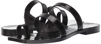 Dolce Vita Isala (Black Croco Embossed Stella) Women's Sandals