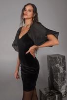 Nasty Gal Womens Big Love Velvet Mini Dress - black - 4