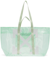 Off-White Off White Green and White Arrows Tote
