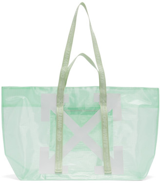 Off-White Green and White Arrows Tote