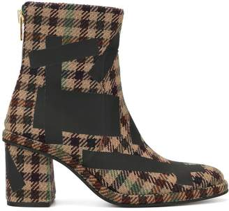 Kolor checked ankle boots