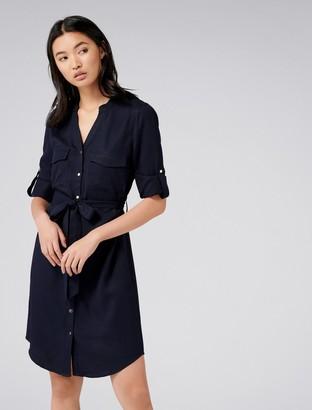 Forever New Belinda Shirt Dress - Navy Sails - 16