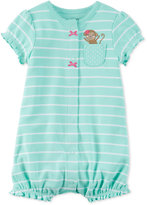 Carter's Striped Monkey Romper, Baby Girls (0-24 months)
