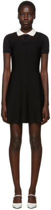 RED Valentino Black Collar Detail Dress