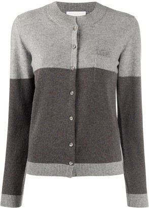 Fabiana Filippi Colour-Block Patch Pocket Cardigan