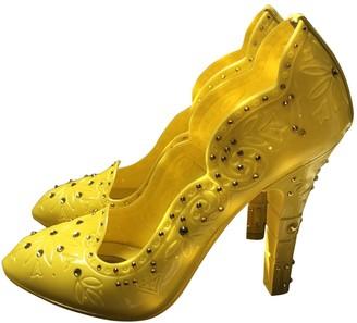 Dolce & Gabbana Yellow Plastic Heels