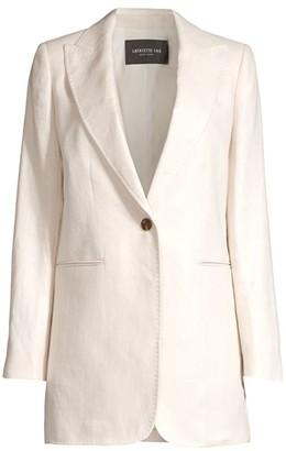 Lafayette 148 New York Beau Oversized Linen Blazer Jacket