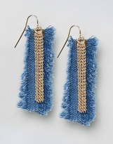 Asos Limited Edition Denim Frayed Earrings