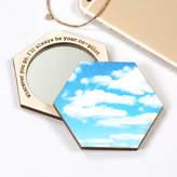 Bombus Personalised Birthday Sky Hexagon Compact Pocket Mirror