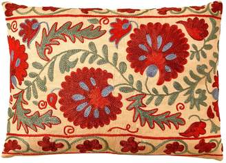 Colosseum Heritage Geneve Daisy Suzani Ikat Silk Double Sided Heritage Design Cushion