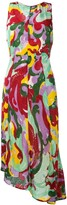 La DoubleJ textured print asymmetric dress