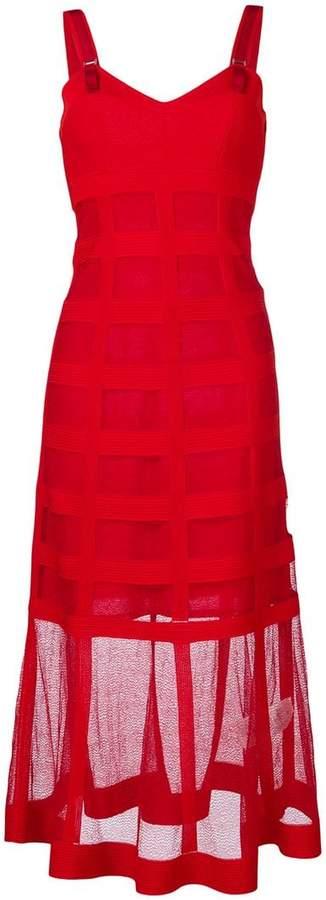 Alexander McQueen mesh overlay dress
