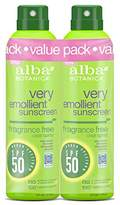 Alba Very Emollient SPF 50 Sunscreen Fragrance Free Clear Spray, 2 Count