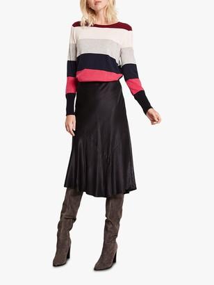 Mint Velvet satin Dip Hem Skirt