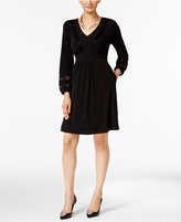Thalia Sodi Lace-Trim Fit & Flare Dress, Only at Macy's
