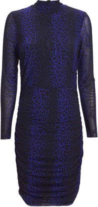 Notes Du Nord Naomi Leopard Turtleneck Dress