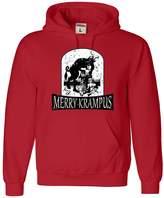 Go All Out Screenprinting Adult Merry Krampus Christmas Demon Sweatshirt Hoodie