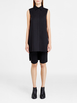 DKNY Collared Tunic With Cross Back