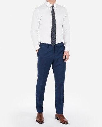 Express Slim Blue Wool-Blend Stretch Suit Pant