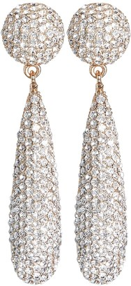 Kenneth Jay Lane Pave Crystal Teardrop Earrings