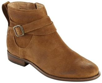 L.L. Bean Women's Westport Ankle Strap Boots, Oiled Suede