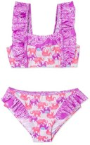 Hula Star Print Two-Piece Swimsuit (Toddler Girls & Little Girls)