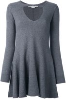 Stella McCartney ruffled cut out blouse - women - Polyamide/Spandex/Elastane/Wool/Virgin Wool - 42