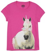 Juicy Couture Girls Knit Juicy Unicorn Short Sleeve Tee