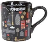Harrods Glitter London Metallic Mug