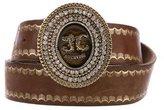Just Cavalli Leather Embellished Buckle Belt