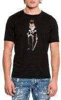 Dolce & Gabbana Crowned Fox Cotton T-Shirt, Black