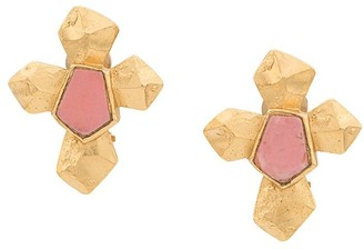 Christian Lacroix Pre-Owned embossed cross earrings