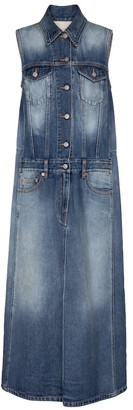 MM6 MAISON MARGIELA Denim and jersey maxi dress
