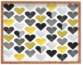DENY Designs Love Is Gold Large Rectangular Tray