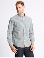 M&S Collection Soft Touch Pure Cotton Multi Gingham Shirt