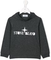 Stone Island Junior - logo print hoodie - kids - Cotton - 6 yrs