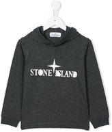 Stone Island Junior logo print hoodie