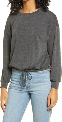ALL IN FAVOR French Terry Drawstring Pullover