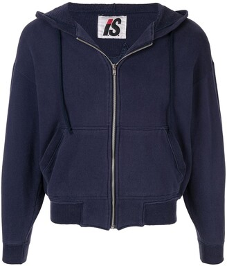 Issey Miyake Pre-Owned 1980's Sports Line quilted logo zipped hoodie