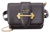 Prada Cahier Calf Leather Belt Bag.