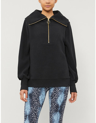 Varley Vine half-zip cotton-blend sweatshirt
