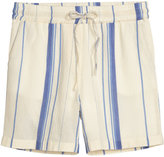 H&M Cotton Shorts - Natural white/striped - Ladies