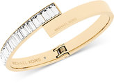 Michael Kors Gold-Tone Crystal Baguette Hinged Bangle Bracelet