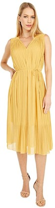 Paul Smith PS Pleated Dress (Yellow) Women's Clothing