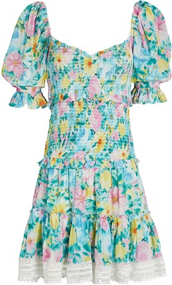 HEMANT AND NANDITA Azalea Floral Mini Dress