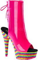 Pleaser USA Women's Delight 1018RBS Open-Toe Ankle Boot