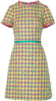 Moschino Fringed bouclé-tweed mini dress