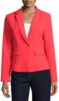 Lucy Paris One-Button Blazer, Cherry