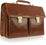 Chiarugi Handmade Brown Genuine Italian Leather Briefcase