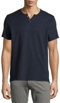 Joe's Jeans Wintz Short-Sleeve Henley Slub Tee, Navy